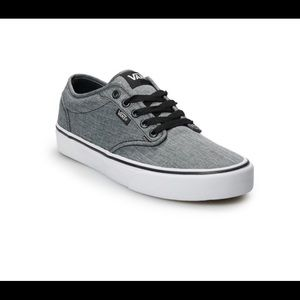Vans Atwood lace up shoe Ortholite insole gray 8